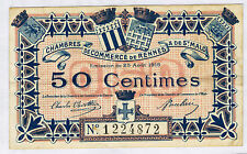 FRANCE RENNES & St MALO 50 CENTIMES Pirot n° 1 du 25 aout 1915 en TTB N° 1224872