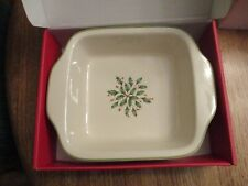 "Lenox Holiday Small Square Baker Casserole 10"" New In Box"