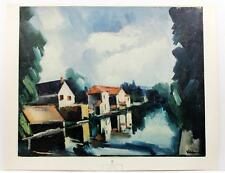 Vintage MAURICE DE VLAMINCK The River Impressionism French Country LITHO #261T