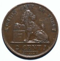 1870 Belgium Two 2 Centime - Leopold II French text - Lot 2147