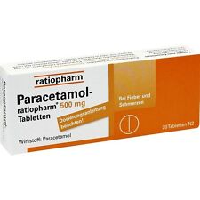 PARACETAMOL ratiopharm 500 mg Pastillas 20 pcs. PZN 1126111