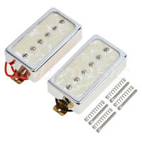 Single Coil Bridge Neck Pickups Set for Electric Guitar Parts Off White Pearl