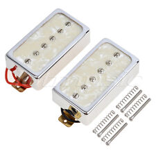 Single Coil Pickups Bridge Neck for Electric Guitar Part Replacement White Pearl