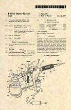 Official Tattoo Machine US Patent Art Print - Tattooist Gun Vintage Antique 505