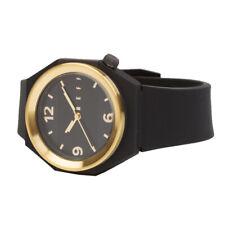 "Neff ""Stripe"" Watch (Black/Gold) Men's Silicon Strap Water Resistant Watch"