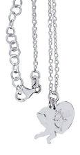 Kette Silber 925 mit Herz und Amor -  Anhänger Silberherz Amore Sterlingsilber