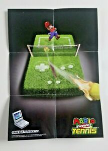 Mario Power Tennis - A4 Folded Poster (Final Fantasy IV Advance - Nintendo VIP)