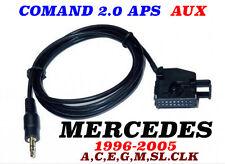 Mercedes Comand 2.0 APS Audio AUX Câble Adaptateur 1996-2005 CLK,A,C,E,G,M,SL