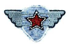Applikation zum Aufbügeln Bügelbild 3-544 Stern