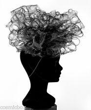 Chapeau de cérémonie femme SYLVIE FOSCOUDIS France noir mariage French black hat