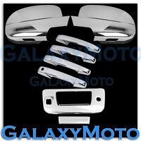 07-13 GMC Sierra Chrome Full Mirror+4 Door Handle+Tailgate+Keyhole+Camera Cover