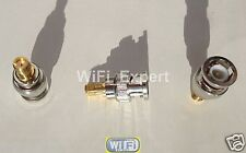 Gold Plated SMA Female Jack to BNC Male plug RF coaxial Adapter RF Connector USA