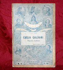 Carlo Goldoni di Tullo Bazzi 1910 Biografia Anedottica