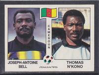 Panini - Italia 90 World Cup - # 173 Bell / N'Kono - Cameroun