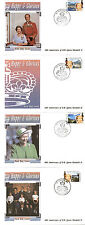 St VINCENT 2 MARCH 1992 HAPPY AND GLORIOUS SET OF ALL 4 FIRST DAY COVERS SHSs