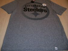 NWT MAJESTIC PITTSBURGH STEELERS SHORT SLEEVE GRAY T-SHIRT MENS LARGE