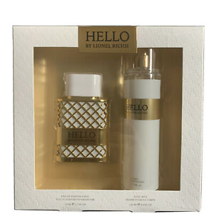 New HELLO by Lionel Richie Eau de Parfum Spray 1.7 oz Gift Set Fragrance Women