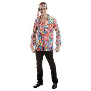 HIPPIE Herren Karneval Kostüm Fasching Party 70er Flower One size