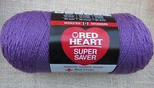 Red Heart Super Saver Yarn Medium Purple Acrylic 7 oz