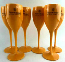 More details for yellow label flute acrylic champagne veuve clicquot glasses brand new set of 12