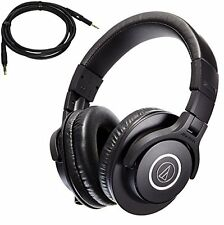 ATH-M40x Professional Studio Monitor Headphones bundled HP-SC Replacement Cable