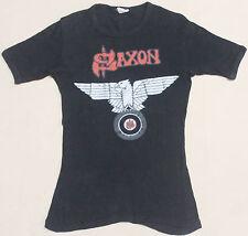 Vintage 80's 1981 Saxon Rock Metal Nwobhm Tour Concert T-Shirt Motorhead