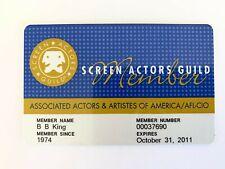 BB King OWNED SAG Screen Actors Guild Signed Autographed Card JULIENS Estate