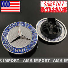 MERCEDES BENZ 57MM C SL CLASS METAL FLAT HOOD EMBLEM ORNAMENT LOGO A2048170616