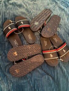 Brand New Genuine Polo Ralph Lauren Boys/Teens Pool Shoes/Sliders UK 3 - 4 - 5