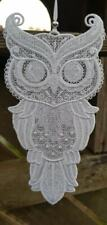 Free Standing Lace Owl - White
