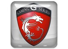 "MSI Gaming G Series 1""x1"" Chrome Domed Case Badge / Sticker Logo"