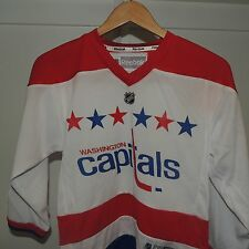 NHL REEBOK Washington Capitals White Hockey Jersey New Youth L/XL MSRP $60