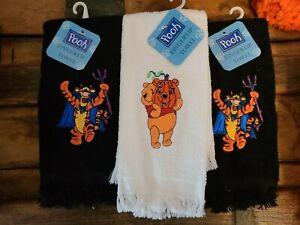 3 NWT 2 Tigger & 1 Pooh Halloween Fingertip Towels VTG 1997? Black & White