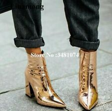 Brand new Gold Patent Ankle Boots Size 7