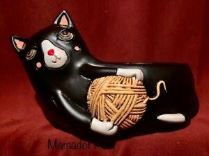 Allen Designs Black Cat Polyresin Planter Pot