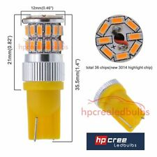 LED UPGRADE 36SMD 501 T10 W5W BRIGHT AMBER INDICATOR LIGHT BULBS CANBUS*** CARS