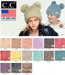 C.C Cute Toddler Kids Girl&Boy Pom Winter Warm Crochet Knit Hat Beanie Cap cc