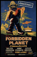 Forbidden Planet FRIDGE MAGNET 6x8 Classic Movie Poster Magnetic Canvas Print