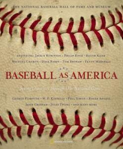 Baseball as America Paperback Book Hall of Fame Edition New Jackie Robinson
