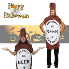 Fancy Dress Beer Bottle Mascot Costume Mens Stag Do Party Outfit Halloween