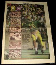 COTTON BOWL 1996 OREGON DUCKS FOOTBALL PREVIEW MAGAZINE * COLORADO BUFFALOES