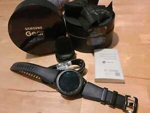 Samsung Gear S3 Frontier 46mm Stainless Steel Case Dark Gray Sport Band t-Mobile