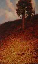 "NEW ORIGINAL MARK HARRISON  ""Cypress Hill"" Tree root wood OIL ON BOARD PAINTING"
