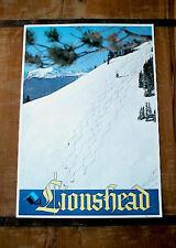 Vintage *COLORADO* SKI Area Poster *LIONSHEAD* @ VAIL - POWDER!