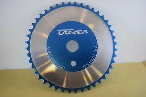 TRACER Compact Disc bmx old school chainring chainwheel 44t Anodize Cyan NOS
