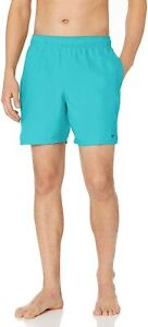 "Nike Men's Solid Lap 7"" Volley Short Swim Trunk,Deep Aqua,LARGE"