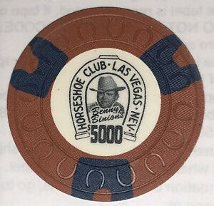 Binions Horseshoe $5,000 Obsolete horseshoemold casino chip