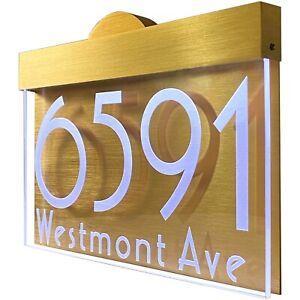12V DC Dusk Dawn sensor Illuminated LED Lighted Address Sign House number Plaque