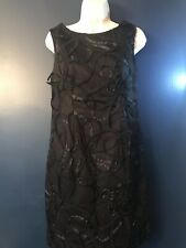 CATO Sleeveless Little Black Dress Ruffled Front New W/ Tags Size 6