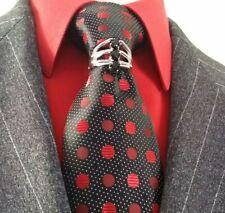 Neck tie ring rhodium Mikayla Tie Bling clip swarovski black clear clasp pin
